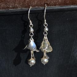 Zilveren oorbellen Lotte