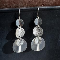 Zilveren oorbellen Femme