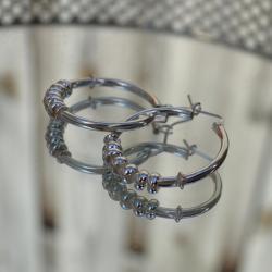 Zilveren creolen oorringen 1705