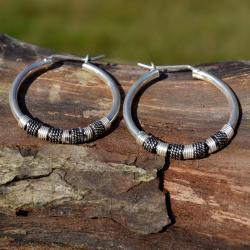 Zilveren creolen Mali