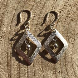 Zilveren oorbellen Florencia