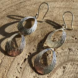 Zilveren oorbellen Praag