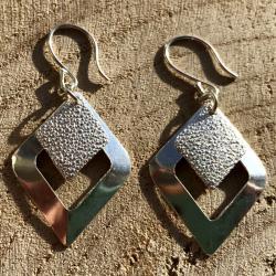 Zilveren oorbellen Siena
