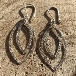Zilveren oorbellen Lima
