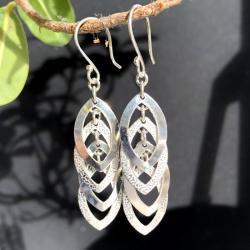 Zilveren oorbellen Genova