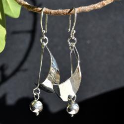 Zilveren oorbellen Bari