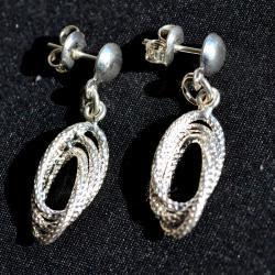 Zilveren oorbellen Monaco