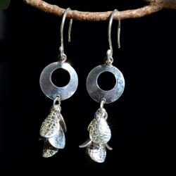 Zilveren oorbellen Galia