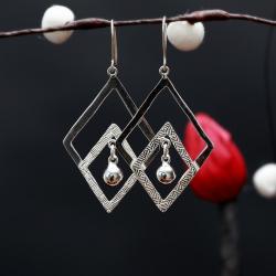 Zilveren oorbellen Julia