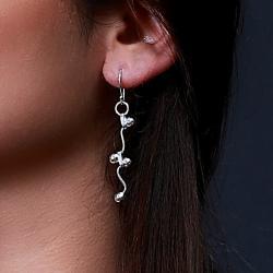 Zilveren oorbellen Vie